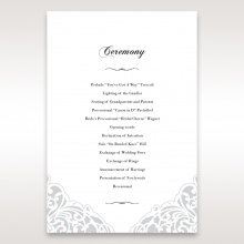 An Elegant Beginning order of service ceremony invite card design