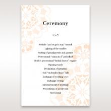 Antique Frame order of service ceremony card