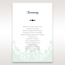 Arch of Love wedding stationery order of service ceremony invite card design