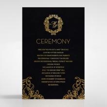 Aristocrat order of service wedding invite card