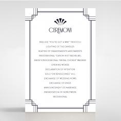 Art Deco Allure wedding order of service invitation card design
