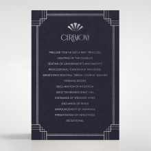 Art Deco Allure wedding stationery order of service card design