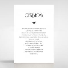 Art Deco Romance order of service wedding invite card design
