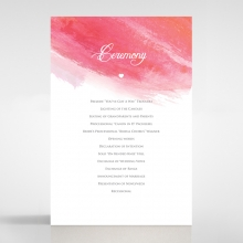 At Sunset order of service ceremony stationery invite card design