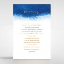 At Twilight  with Foil wedding order of service ceremony invite card