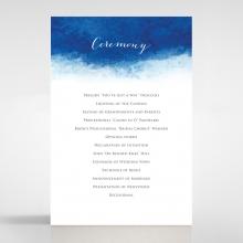 At Twilight wedding order of service invitation