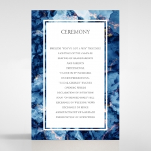 Azure  with Foil order of service invite card