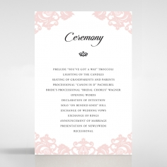 Baroque Pocket wedding stationery order of service ceremony invite card