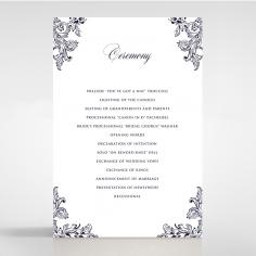 Baroque Romance wedding order of service ceremony card design
