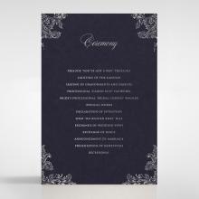 Baroque Romance wedding stationery order of service card design