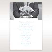 Beautiful Romance order of service ceremony card