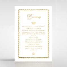 Black Doily Elegance with Foil order of service wedding invite card