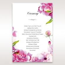 Black Framed Floral Pocket order of service stationery