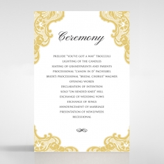 Black Lace Drop order of service wedding card