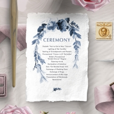 Blissful Union order of service wedding card design