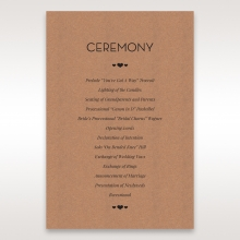 Blissfully Rustic  Laser Cut Wrap order of service ceremony invite card design