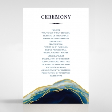 Blue Aurora order of service wedding card