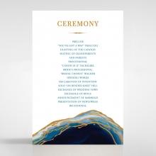 Blue Aurora order of service wedding card design