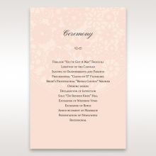 Blush Blooms order of service stationery card