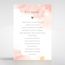 Blushing Rouge order of service stationery