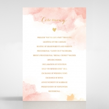 Blushing Rouge with Foil order of service wedding invite card design