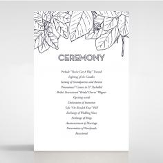 Botanical Canopy order of service ceremony invite card design