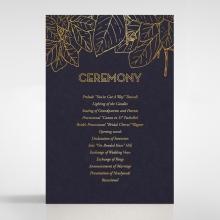 Botanical Canopy order of service wedding card design