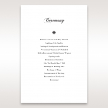Bouquet of Roses wedding order of service ceremony invite card design