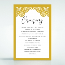 Breathtaking Baroque Foil Laser Cut order of service stationery invite