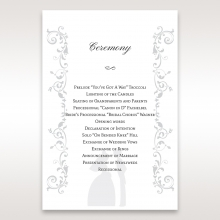 Bridal Romance order of service stationery invite card