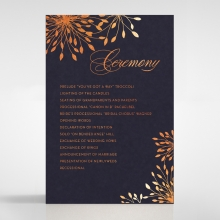 Bursting Bloom wedding stationery order of service ceremony invite card design