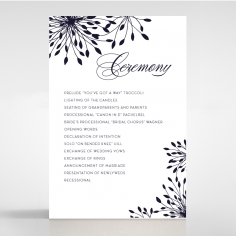 Bursting Bloom wedding stationery order of service ceremony card