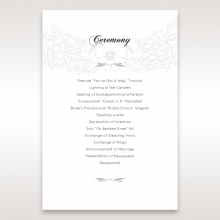 Cascading Flowers wedding order of service invite card