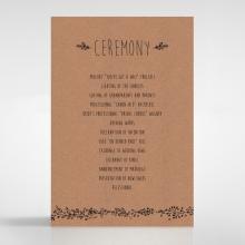 Charming Garland wedding stationery order of service ceremony card design