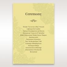 Charming Laser cut Garden order of service invitation card