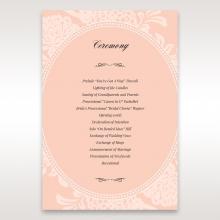 Classic Laser Cut Floral Pocket order of service invitation card design