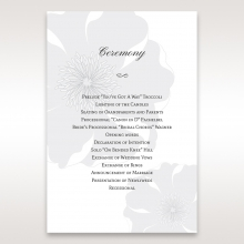 Classic Shimmering Flower order of service ceremony invite card