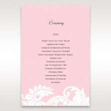 Classic White Laser Cut Floral Pocket wedding order of service card
