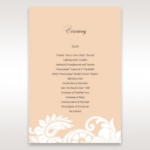 Classic White Laser Cut Sleeve wedding stationery order of service ceremony invite card design