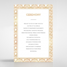 Contemporary Glamour wedding order of service invitation card design