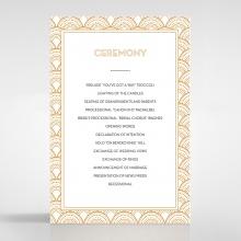 Contemporary Glamour wedding order of service invite