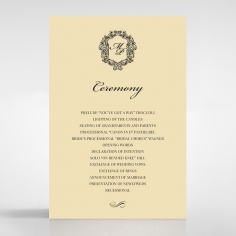 Damask Love order of service invitation