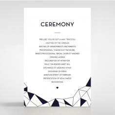 Digital Love wedding order of service invitation