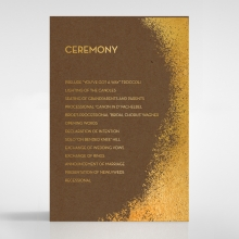 Dusted Glamour order of service stationery card design