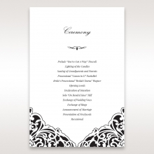 Elegance Encapsulated Laser cut Black wedding stationery order of service invite card