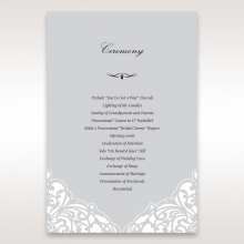 Elegance Encapsulated wedding order of service invitation card