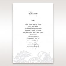 Elegant Black Laser Cut Sleeve order of service wedding invite card design