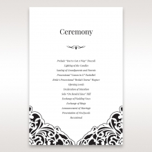 Elegant Crystal Black Lasercut Pocket order of service stationery invite card design