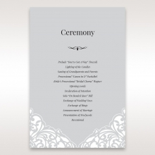 Elegant Crystal Lasercut Pocket order of service wedding card design