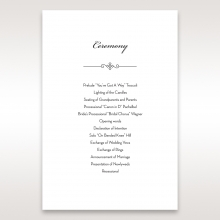 Embossed Date wedding stationery order of service card